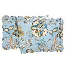 C&F Home Bethany Blue Table Runner