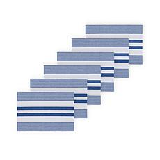 C&F Home Blue & White Stripe Placemat Set of 6
