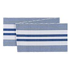 C&F Home Classic Stripes Blue & White Table Runner