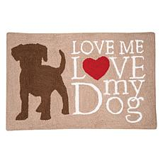 C&F Home Dog Love Hooked Rug
