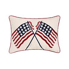 C&F Home Double US Flag Pillow