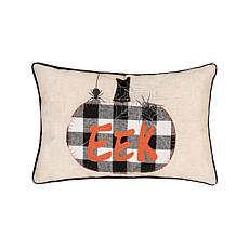 "C&F Home Franklin Black ""EEK"" Pillow"