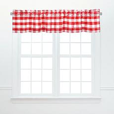 C&F Home Franklin Red Valance Set of 2