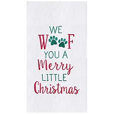 C&F Home Merry Woofmas Towel Set of 2