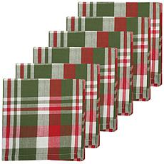 C&F Home Owen Plaid Cotton Napkin Set of 6