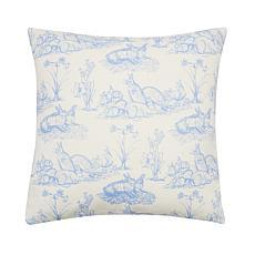 C&F Home Rabbit Toile Pillow