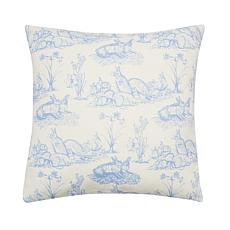 C&F Home Rabbit Toile Pillow