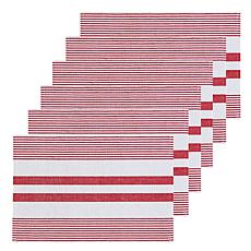 C&F Home Red & White Stripe Placemat Set of 6