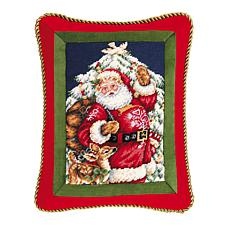 C&F Home Santa With Deer Pillow