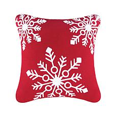 C&F Home Snowflakes Red Pillow