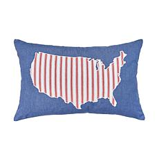 C&F Home USA Denim Pillow