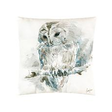 C&F Home Watercolor Owl Pillow