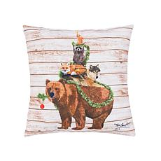 C&F Home Woodland Yuletide Tree Pillow