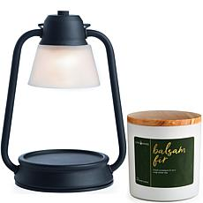 Candle Warmers Black Beacon Lantern Warmer and Balsam Fir Candle