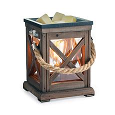 Candle Warmers Etc. Walnut and Rope Vintage Bulb Wax Warmer