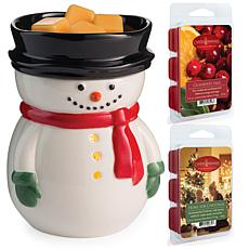 Candle Warmers Frosty Wax Warmer with 2-Pack 2.5 oz. Wax Melts