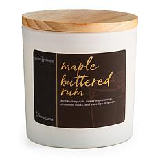 Candle Warmers Maple Buttered Rum Holiday Soy Wax Candle 15 oz.