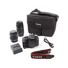 Canon EOS T6 18MP Wi-Fi Digital SLR Camera w/2 Lenses