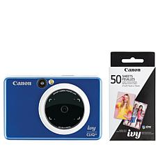 Canon IVY CLIQ+ Instant Camera Printer with 50-pack Photo Paper