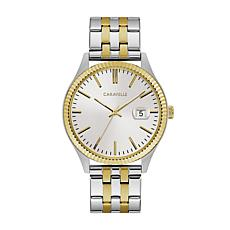Caravelle Bulova Men's Coin Edge Watch