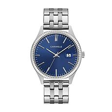 Caravelle Men's Coin-Edge Bracelet Watch