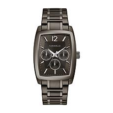 Caravelle Men's Gunmetal-tone Dress Watch