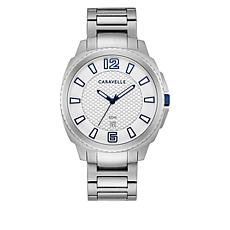 Caravelle Silvertone Stainless Steel Men's Bracelet Watch