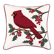 Cardinal Berries Pillow