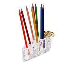 Carleton Varney Swiss Cheese Pencil Holder with Pencils