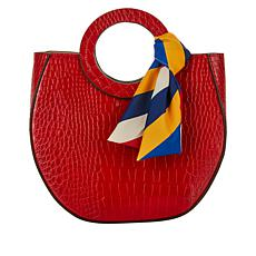 Carlos by Carlos Santana Croco-Embossed Tote and Pouch