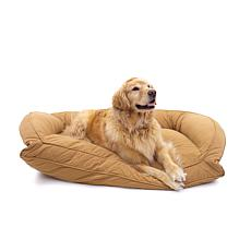 Carolina Pet Lg/XL Quilted Microfiber Bolster Bed with Memory Foam