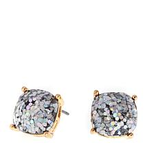 "Caroline Hill ""Bellino"" Cushion-Cut Glitter Stone  Stud Earrings"