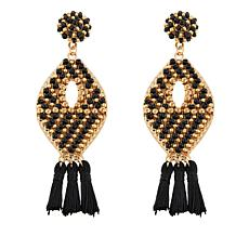 "Caroline Hill ""Grigson"" Structured Seed Bead Earrings"