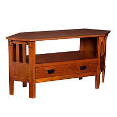 Carson Corner Media Stand - Brown Mahogany Finish