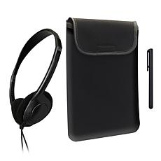 Caseworks Tablet Starter Kit with Sleeve, Stylus and Headphones