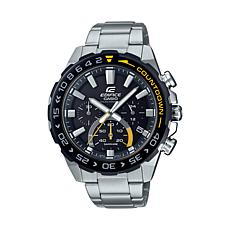 Casio Edifice Stainless Steel Men's Solar-Powered Chronograph Watch