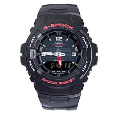 Casio Men's G-Shock Black with Red Detail Analog-Digita