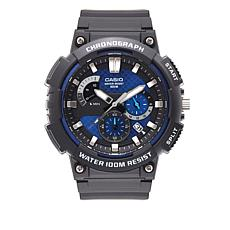 Casio Men's MCW200H-2AV 3-D Dial Chronograph Watch