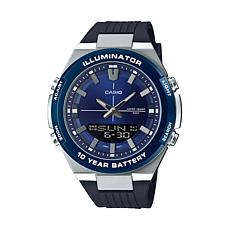 Casio Men's Multi-Function Watch, Black/Blue