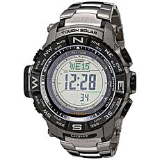 Casio Pro Trek Men's Triple Sensor Atomic Solar Watch - Titanium Band