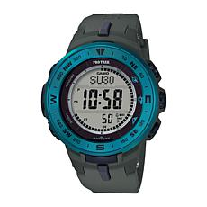 Casio Pro Trek Men's Triple Sensor Solar-Powered Watch - Gray/Blue