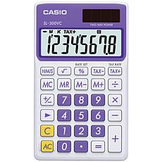 CASIO® SL300VCPLSIH Solar Wallet Calculator w/8-Digit Display - Purple