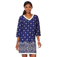 Caya Costa 3/4-Sleeve Caftan Dress