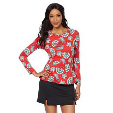 Caya Costa Long-Sleeve Peplum Top with UV Protection