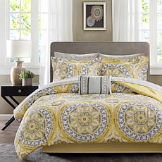 Celeste Full 9pc Complete Bed and Sheet Set - Yellow