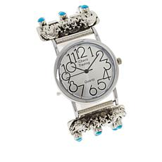 Chaco Canyon Sleeping Beauty Turquoise Wolf Bracelet Watch