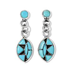 Chaco Canyon Southwest Turquoise Zuni Drop Earrings