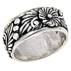 Chaco Canyon Sterling Silver Flower Band Ring