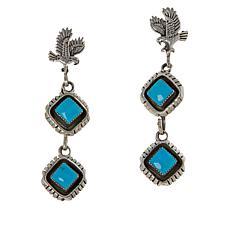 Chaco Canyon Sterling Silver Kingman Turquoise Eagle Drop Earrings
