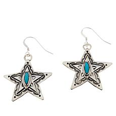 Chaco Canyon Sterling Silver Kingman Turquoise Star Earrings
